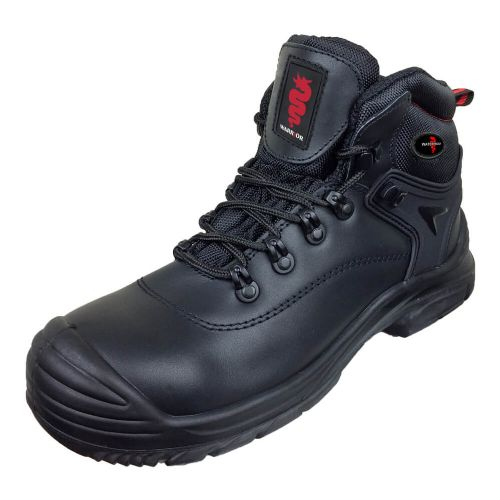 Warrior Black Unisex Safety Hiker Boots
